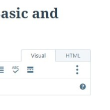 Wordpress Visual and HTML tabs