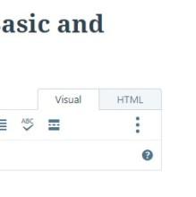 Wordpress Visual and HTML tabs